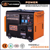6kw single phase Air-cooled 4-Stroke portable 110/220v silent diesel generator set