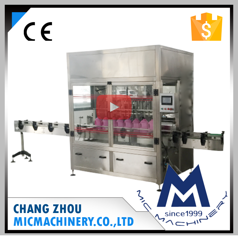 Micmachinery electromagnetic flow meter controlling MIC-ZF6 6 nozzles automatic bottle filling machine liquid