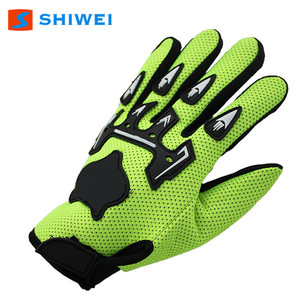 latest SHIWEI-ST004# mens motor cycle bike Leather Working Glove