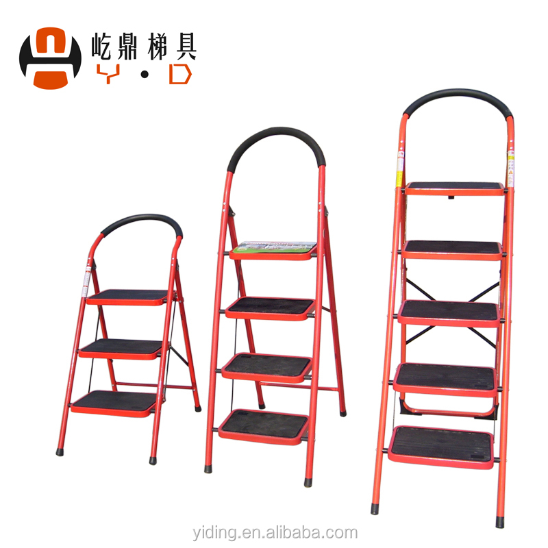 3 steps steel ladder / folding ladder / agility step ladder Hand Grip Home Kitchen Room Office stool