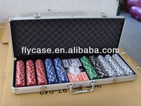 2015 new design marco style Aluminum poker set .playing card set chips case set