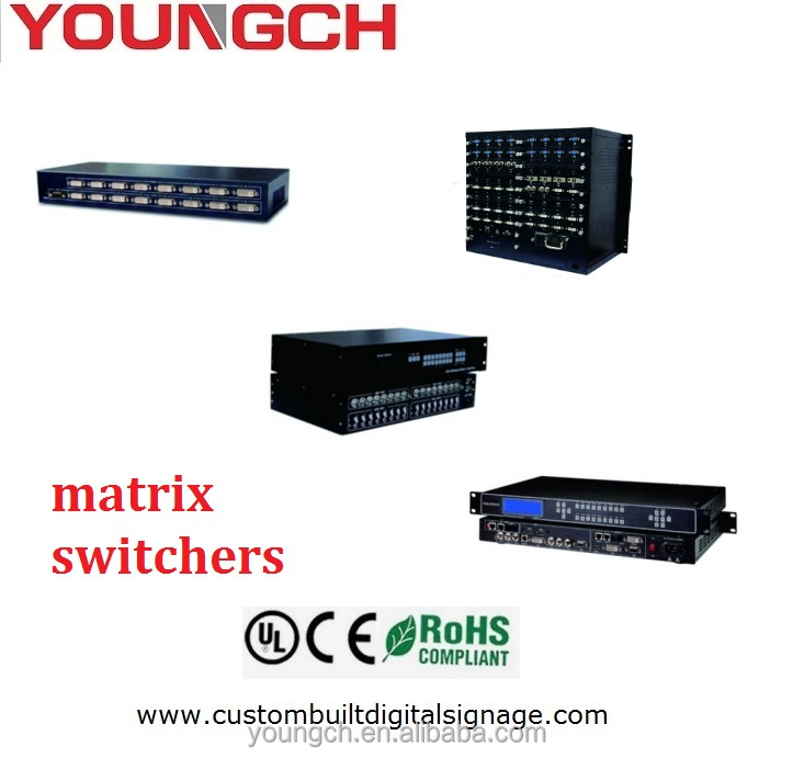 New splicing solution for ultra fast video walls Custom made 2x2 video wall controller DVI Matrix switcher easy to switch channe