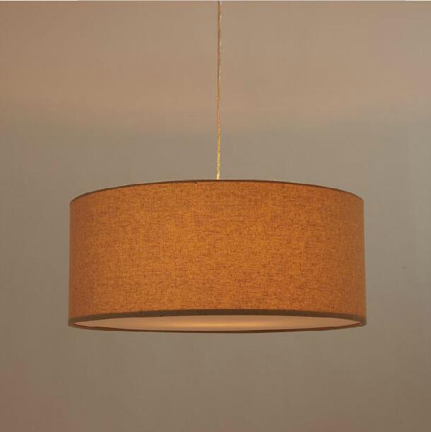 Modern Fabric Shade Pendant Lamp Round Style