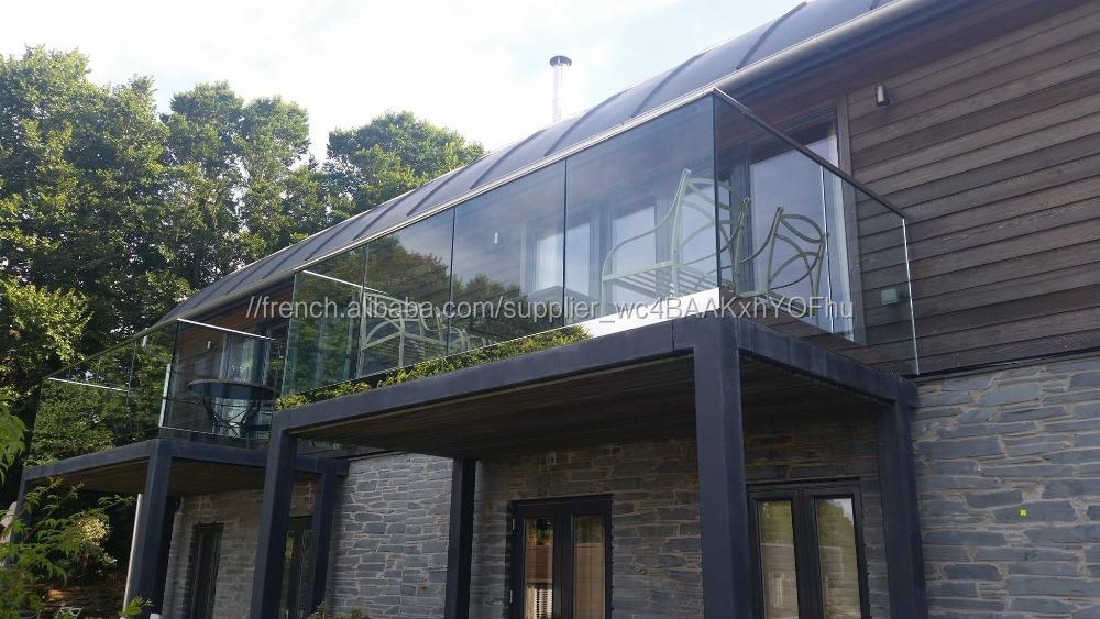 Fabuleux Pont extérieur garde-corps en verre design en aluminium U channle  ON42