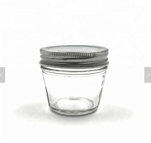 2oz 60ml Wide Mouth Glass Jelly Jar With Metal Lug Cap For Jam Butter Tamper Shaped
