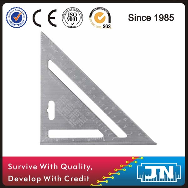 7 inch Aluminum Rafter Square Measuring Layout Tool 45 degree with anodization