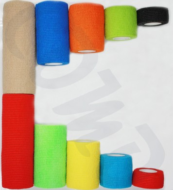 2.5 cm china ce fda iso cotton non-woven medical elastic bandage