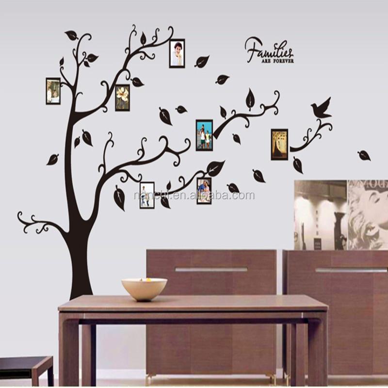 AY9063A PVC marco de fotos árboles pegatinas de pared árbol de ...
