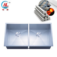 China manufacture best sale good quality dental stainless steel small double kitchen sink