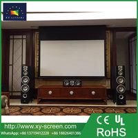 XYSCREEN 16:9/4:3 Motorized Projector Screen, Electronic Automatic Display, Includes Remote Control