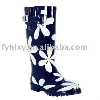Caoutchouc bottes de pluie pour femmes