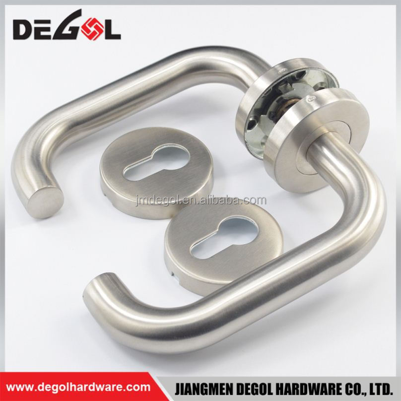 Luxury Latest stainless steel apartment fireproof tube lever type steel hand made door handle