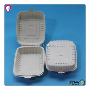 Corn starch based biodegradable disposable fast food packaging box