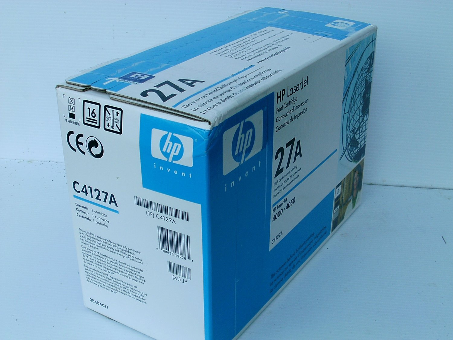 Hewlett Packard HP 27A LaserJet 4000, 4050 Series Ultraprecise Print Cartridge (6,000 Yield) , Part Number C4127A