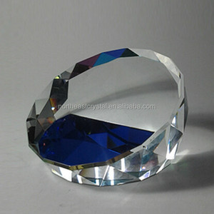 Factory Wholesale High Quality Blank Crystal Glass Diamond Paperweights for Engraving
