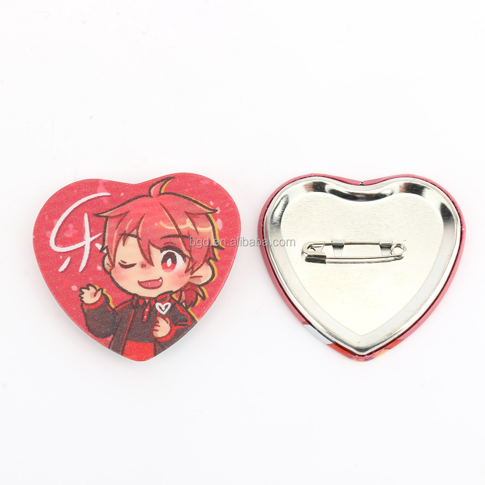 New Products Custom Love Heart Button Badge Maker, View Heart Badge,  vograce Product Details from Zhejiang Baigedi Technology Co , Ltd  on  Alibaba com