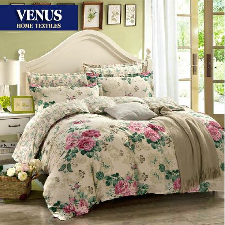 literie agr gat par bandes de coton shabby chic violet housse de couette lit r gler le linge de. Black Bedroom Furniture Sets. Home Design Ideas