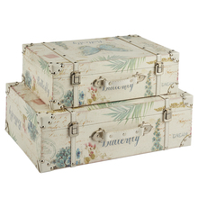 Vintage style retro printed butterfly suitcase for travel