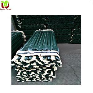 Wuxi Lydite Galvanized Steel Post Green Power Painted T-Post Steel Fence U Post