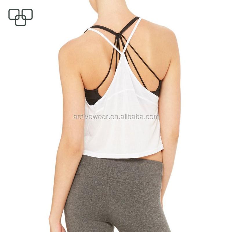 504bbbfd58775 Blank Drop Armhole Wholesale Plain Sports Women Gym Tank Tops Fancy  Sleeveless Top