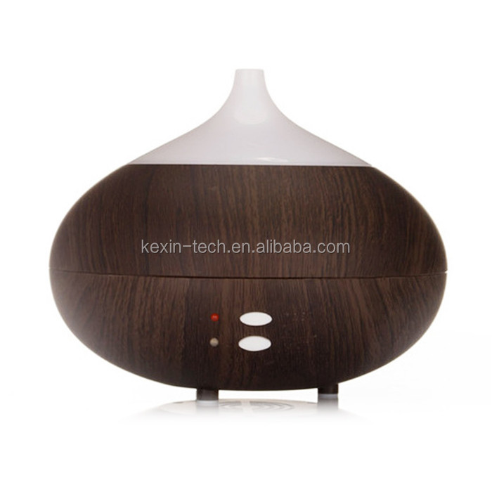 Wholesale Aroma Essential Oil Diffuser Ultrasonic Aromatherapy Wood Grain Cool Mist Humidifier 300ML with LED Lamp