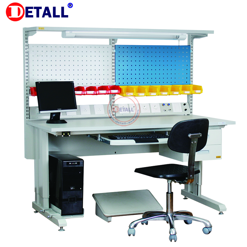 Detall. Metal multifunction drawer workbench with modular accessories