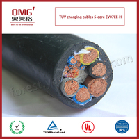 TUV certificate approved Electric Vehicle use EV power charging cable-5 cores-for electric car/bus/truck