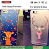 Cute animals phone case for ip6+ Fawn Pattern TPU Soft mobile phone case for iphone 6 plus