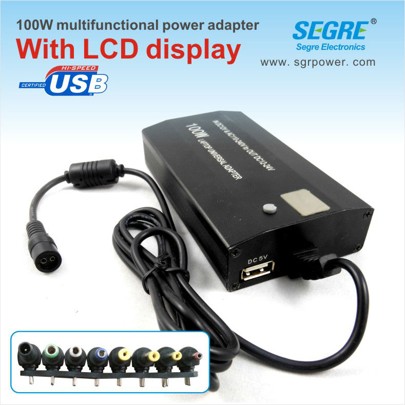 100W lcd display switching ac adapter for universal netbook