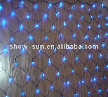 180 Led Chasing Net Lights Blue Christmas Lights