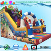 New Colorful Circus Inflatable Slide with Climb Clown Theme Dry Slide for Sale