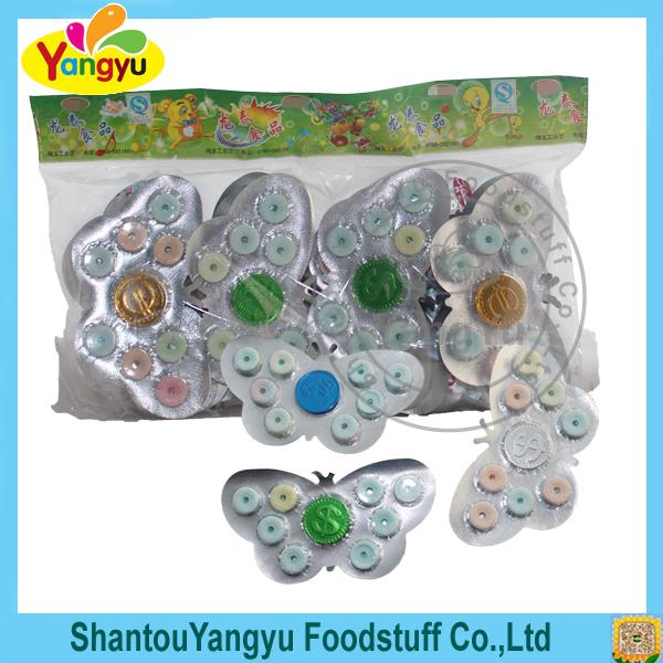 New style product butterfly shape nutrition colorful rolling candy