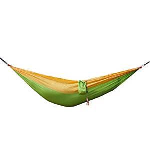 LJ&L Outdoor leisure hammock, parachute hammock, ultra-light breathable wear-resistant camping adult hammock, the maximum bearing capacity of 150kg