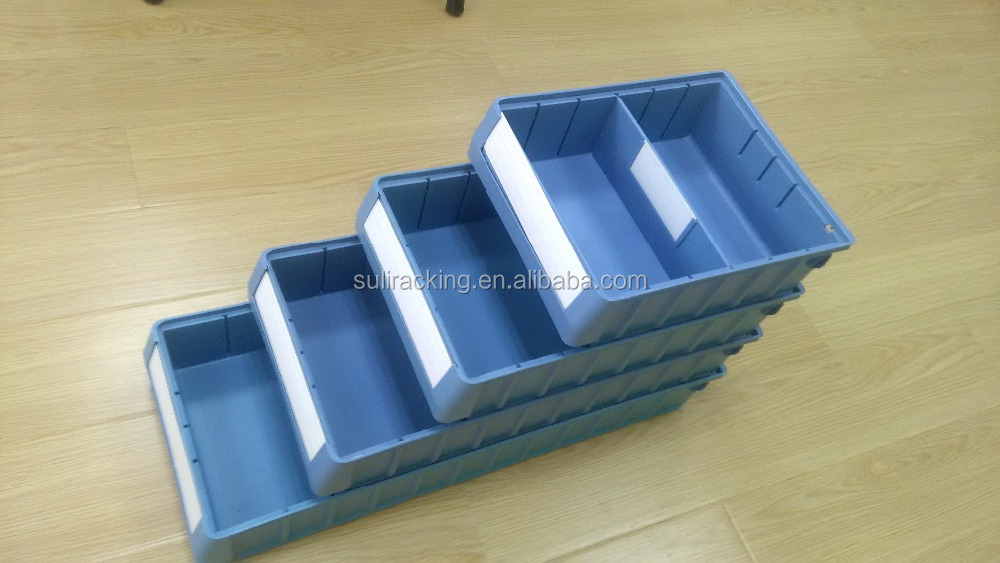 multifunctional dividable plastic storage bins for tools screws storage with divider