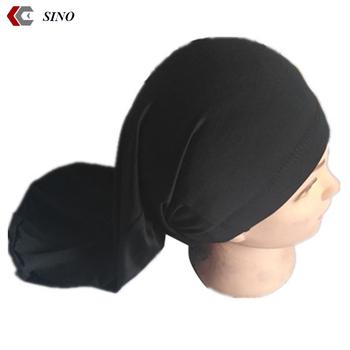 long hop pocket cap dreadlock stocking cap bonnet spandex closed long  bandana beanies islamic turban cap 443bf104941