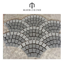 Castle garden floor use naturale curved paving stone edging