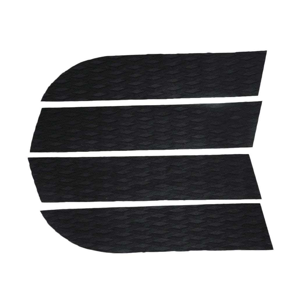 MonkeyJack 4 Pieces Diamond Grooved Non-slip Adhesive EVA Dog Traction Pad Customizable Deck Grip Mat Trim Sheet for Nose of your SUP Surf Stand Up Paddleboard