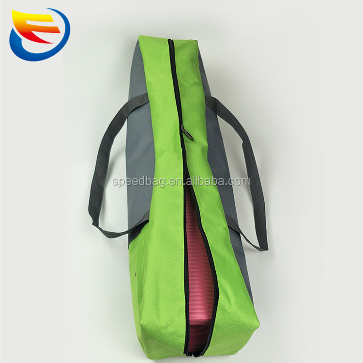 Custom Logo Eco-friendly cotton canvas Yoga Mat Bag , drawstring shoulder yoga bags , cotton shoulder yoga bags with pocket