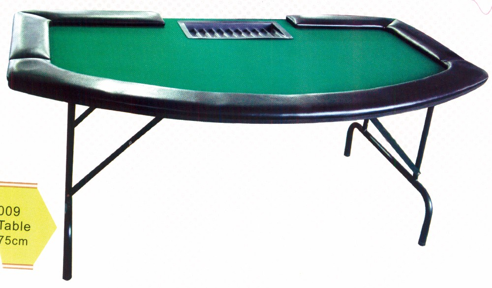 Folding poker table oval give a man a fish on his for Table pliante walmart
