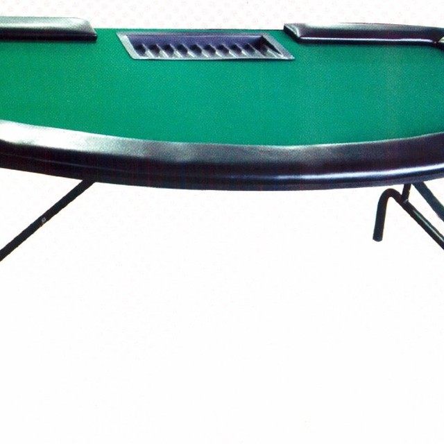10 Person Octagon Folding Leg Wooden Poker Table