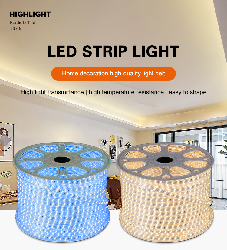 Best sell super bright waterproof SMD2835 220V heat-resisting led strip lights