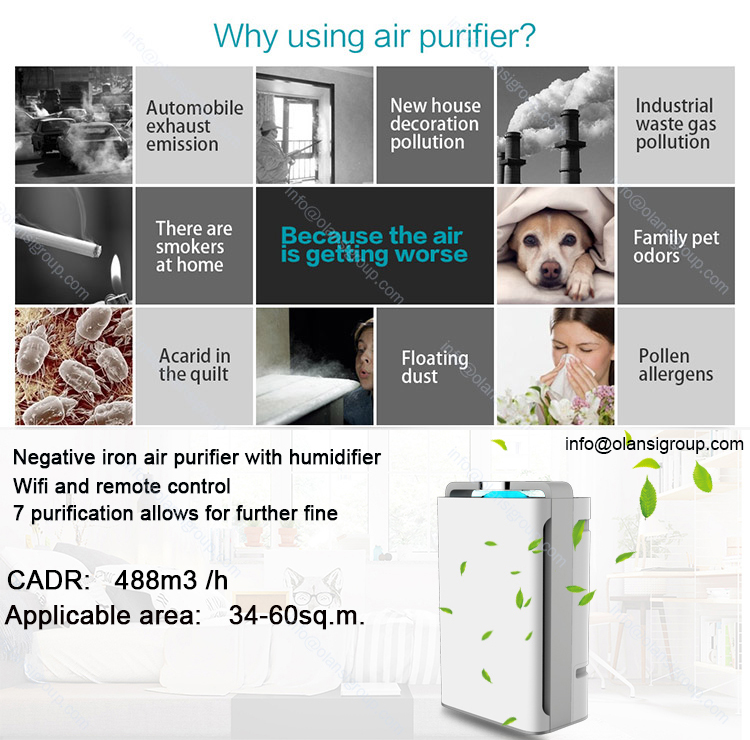 Office Home Portable Air Purifiers China Manufactures CB CE Air Purifier With Humidifier