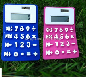 2016 hot sale cheap solar power silicone calculator & a4 jumbo calculator