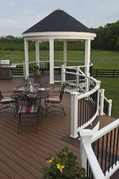 Ext rieur balustrades en bois rond wpc ext rieur rampes d for Balustrade en bois exterieur