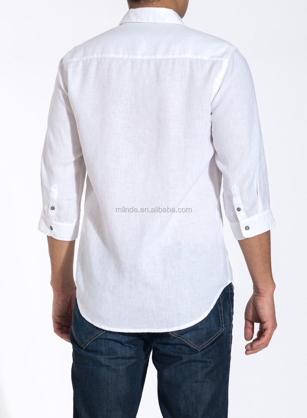 6d8c8965a4 el Último de los hombres camisas de lujo de tres cuartos de manga