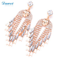 high quality luxury full crystal avenue earrings for women