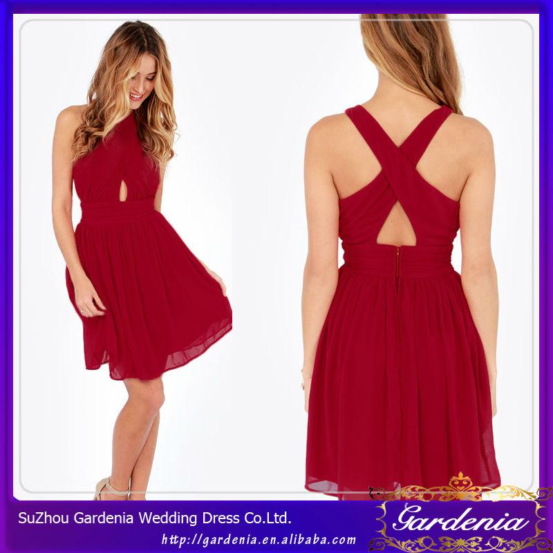 Vestidos fiesta cortos rojos