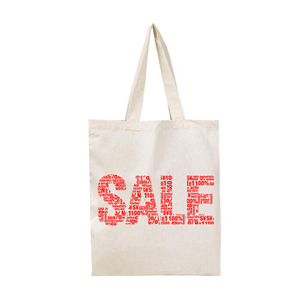Custom logo printed 7 oz natural color calico promo bag