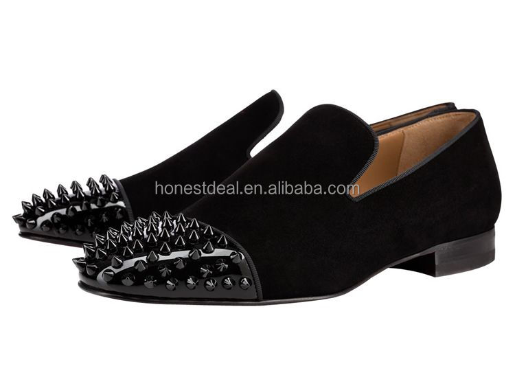 shoes fashion boat Rubber sole flat black shoes casual rivets 7w8xwqP