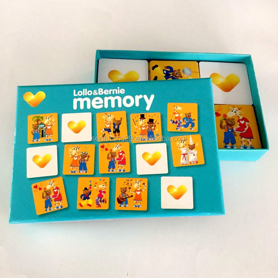 Art cards paper Manufacturer Custom Made Mini Art Paper Memory Card Game and Trading Card Printing Baby Educational toys